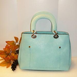 Handbags - Aqua Tote Handbag Double Handle 9 X 12.5 NWOT